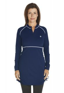 Coolibar - Ruche Swim Shirt - navy - Front