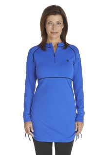 Coolibar---UV-Swim-shirt-women---Kobalt-Blue