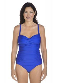 Coolibar---UPF-50+-Women's-Bandeau-Tankini-top---Bajaj-Blue