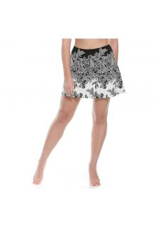Coolibar---UV-Swim-skirt-for-women---Black-Paisley