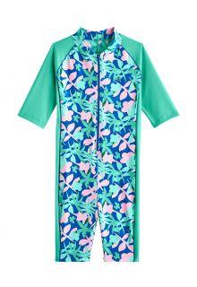 Coolibar---UV-Swim-suit-for-girls---Barracuda-Neck-to-Knee---Sea-Mint
