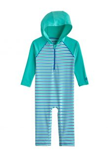 Coolibar---Hooded-UV-Swim-suit-for-babies---Finn---Sea-Mint/Marlin-Blue