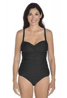 Coolibar---UPF-50+-Women's-Bandeau-Tankini-top---Black
