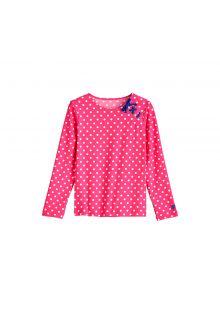 Coolibar - UV-zwemshirt voor meisjes - Aloha White Polka dots - Front
