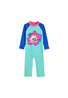 Coolibar - UV swimsuit for babies - Tropical Flower - Front