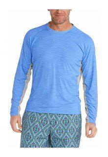 Coolibar---UV-Swim-Shirt-for-men---Longsleeve---Ultimate-Rash---Surf-Blue