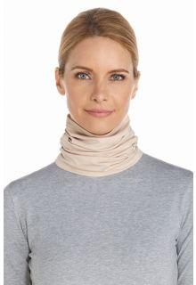 Coolibar---UV-resistant-neck-gaiter---Beige