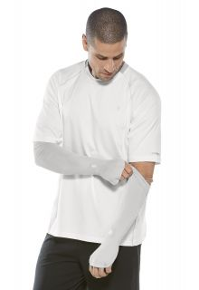 Coolibar---UV-performance-sleeves-for-men---Silver