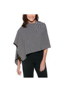 Coolibar---UV-resistant-convertible-shawl---Black/White-striped