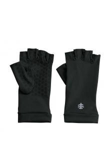 Coolibar---UV-resistant-fingerless-gloves-for-adults---Ouray---Black