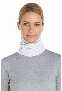Coolibar - UV resistant neck gaiter - White - Front