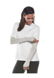Coolibar---UV-Performance-Sleeves-for-women---Backspin---Silver