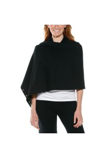 Coolibar---UV-resistant-convertible-shawl---Black