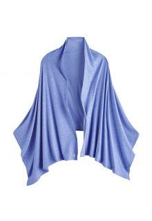Coolibar---UV-resistant-Shawl-for-women---Bhakti-Sun---Aura-Blue