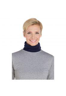 Coolibar---UV-neck-gaiter-unisex--Side-vents---Navy-blue