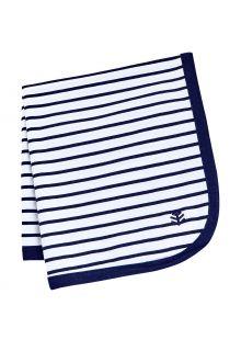 Coolibar---UV-resistant-Sun-Blanket-for-babies---Batibou---White/Navy