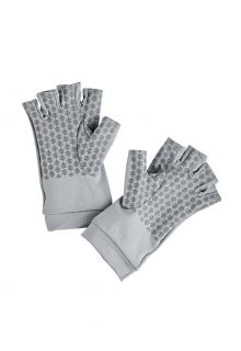 Coolibar---UV-resistant-fingerless-gloves-for-adults---Ouray---Pebble-Grey