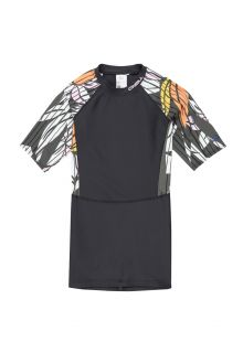 O'Neill---Women's-long-UV-shirt---short-sleeves---Mix---Black/Green