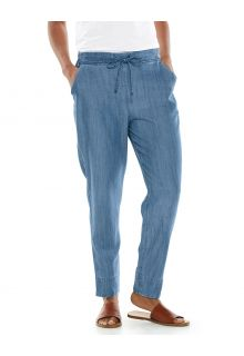 Coolibar---Casual-UV-pants-for-women---Enclave-Weekend---Light-Indigo