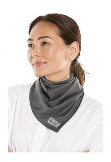 Coolibar---UV-resistant-Bandana-for-adults---Abacos-Aqua---Smoke-Grey