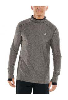 Coolibar---UV-Hooded-Sportshirt-for-men---Longsleeve---Agility---Charcoal