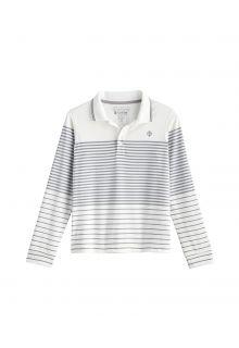 Coolibar---UV-Sport-Polo-for-kids---Longsleeve---Erodym-Golf---White/Grey