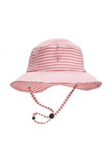 Coolibar---UV-Bucket-Hat-for-girls---Caspian---Seashell/White