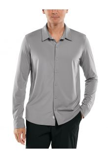 Coolibar---UV-Shirt-for-men---Vita-Button-Down---Space-Grey