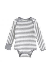 Coolibar---UV-Onesie-for-babies---LumaLeo-Bodysuit---Grey/White