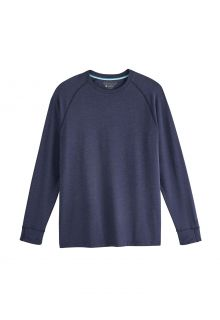 Coolibar---UV-Shirt-for-men---Longsleeve---LumaLeo---Indigo