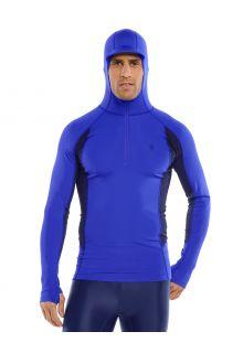 Coolibar---UV-Hooded-Rash-Guard-for-men---Point-Break---Cobalt/Navy