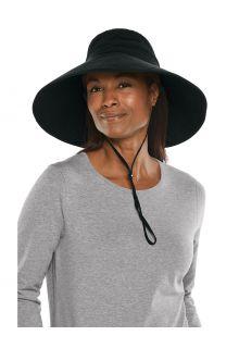 Coolibar---Wide-brimmed-UV-Beach-Hat-for-women---Cyd---Black
