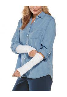Coolibar---UV-Sun-Sleeves-for-women---LumaLeo---White
