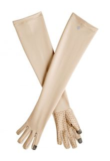 Coolibar---UV-resistant-gloves-with-long-sleeve-for-adults---Culebra---Beige