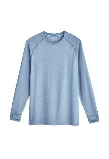 Coolibar---UV-Shirt-for-men---Longsleeve---LumaLeo---Light-Blue