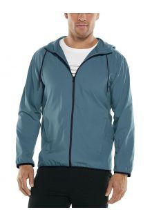 Coolibar---UV-Summer-Jacket-for-men---Hullen-Hooded---Placid-Blue