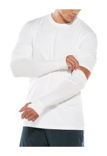 Coolibar---UV-Sun-Sleeves-for-men---LumaLeo---White