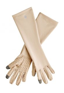 Coolibar---UV-resistant-gloves-with-sleeve-for-adults---Bona---Beige