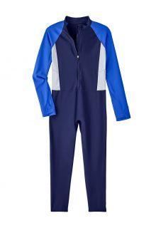 Coolibar---UV-Swim-suit-for-kids---Sunray-360-Coverage---Navy