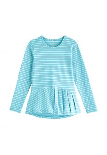 Coolibar---UV-Shirt-for-girls---Longsleeve---Aphelion-Tee---Ice-Blue/White