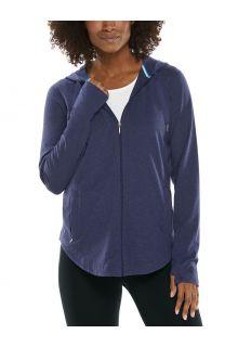 Coolibar---UV-Full-zip-hoodie-for-women---LumaLeo-Zip-Up---Indigo