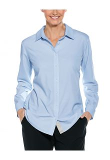 Coolibar---UV-Shirt-for-women---Hepburn-Blouse---Light-blue