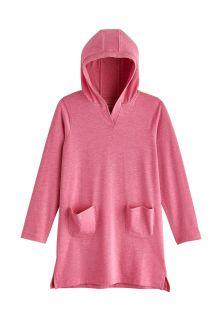 Coolibar---UV-Beach-cover-up-for-girls---Catalina---Dahlia-Pink-Heather