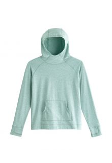Coolibar---UV-Hooded-Pullover-for-kids---LumaLeo---Light-Sage