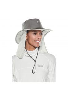 Coolibar---UV-hat-Grijsh-concealable-neck-flap---grey