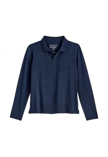 Coolibar---UV-Polo-Shirt-for-kids---Longsleeve---Coppitt---Navy