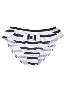Petit Crabe - UV Bikini bottom - Striped - White/Navy - Front