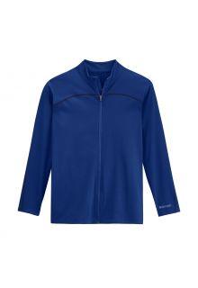 Coolibar---UV-Swim-Jacket-for-men---Menorca---Deep-Blue