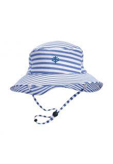 Coolibar---UV-Bucket-Hat-for-boys---Caspian---Seashore-Blue/White