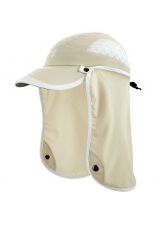 Coolibar---UV-Sport-Cap-with-neck-cover-for-kids---Agility---Stone/White